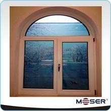 Wood aluminum double glazed curved windows
