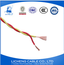 house wiring PVC insulated copper twist wire 2x0.75mm2