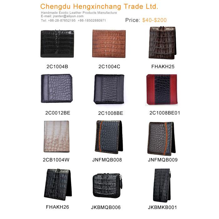 Genuine Exotic Leather Crocodile Wallet Credit Card Holder Wholesale