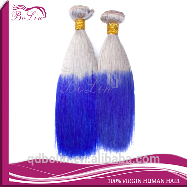cheap factory price no tangle no shedding popular 613 blue color peruvian hair