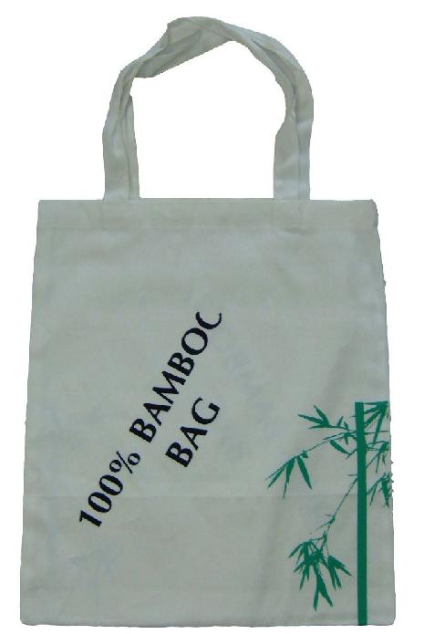 Nice bamboo fibre bag with bamboo logo printing
