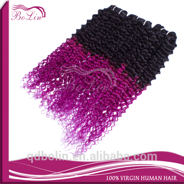 popular new hair 1b purple two tone ombre colored hair weave bundles