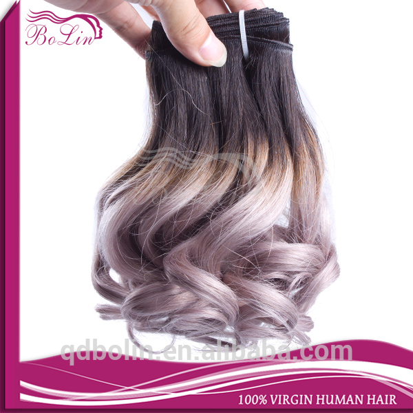 Wholesale hair extension funmi wavy Virgin Brazilian Ombre Hair Weave