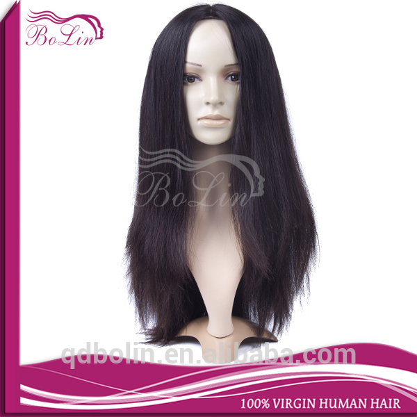 2015 hot sell natural color no shedding no tangle human hair jewish wig kosher wigs