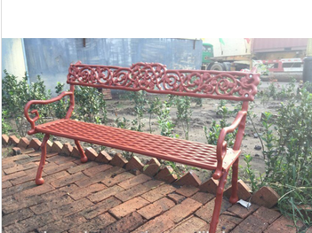China supplier cast iron park bench ,,cast iron garden bench in stock