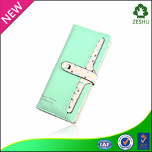 2015 new heart printing lady pu leather wallet