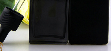 30ml solid/translucent black glass dropper bottles for e liquid with childproof dropper caps and tamper ring