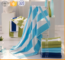 wholesale cotton blue and white stripe towel