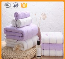 Factory price hot sale embroidery purple bath towels 100% cotton