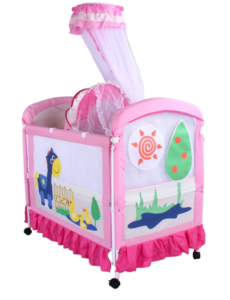 2016 hot selling Chinese babies metal bed baby crib