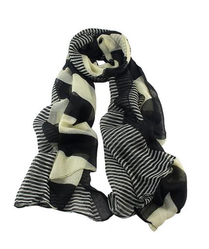 New Fashion Cheap Stripe Voile Fashionable Woman Scarf