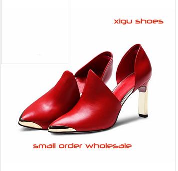 XG010 high heel sandals women 2015 leather