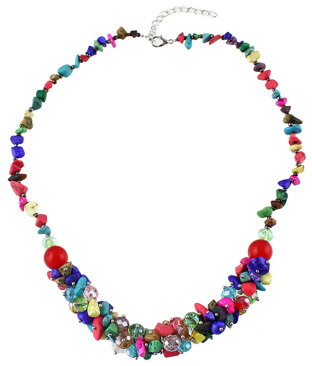 2015 Bohemian Style Beautiful Colorful Small Beads Necklace for Womem