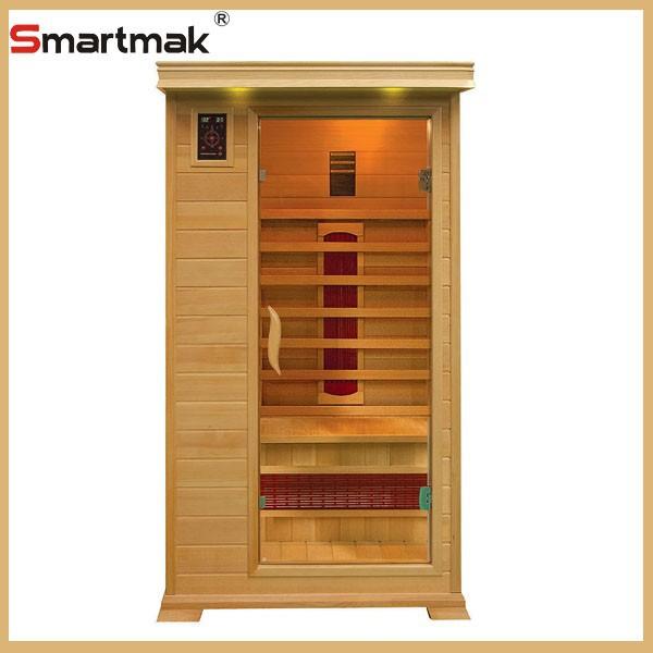 2015 Smartmak new style 1-6 person hemlock wooden indoor sauna cabin ceramic heater far infrared sauna room