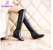 New winter horse riding high brand shoes factory wellington women leather over knee boots shoes
