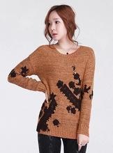 beautiful lace embroidery woman sweater