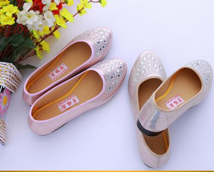 top quality Wangdu factory diamond shoes ladies