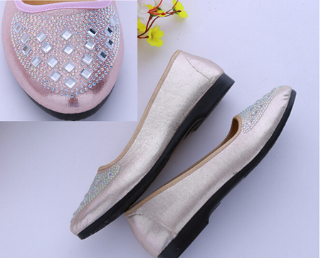 top quality Wangdu factory diamond shoes ladies