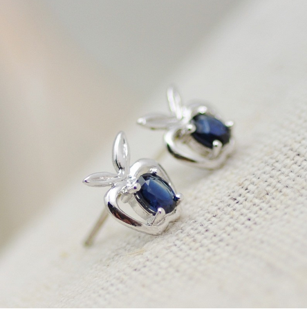 New drop earrings products With fashion gemstone jewelry_Little Apple SS0003E