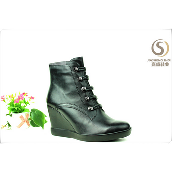 4 INCH high ankle Wedge boots