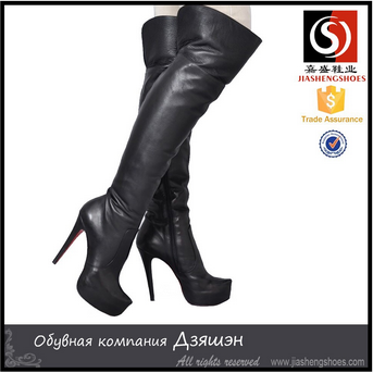Stiletto High Heel Rubber Boots