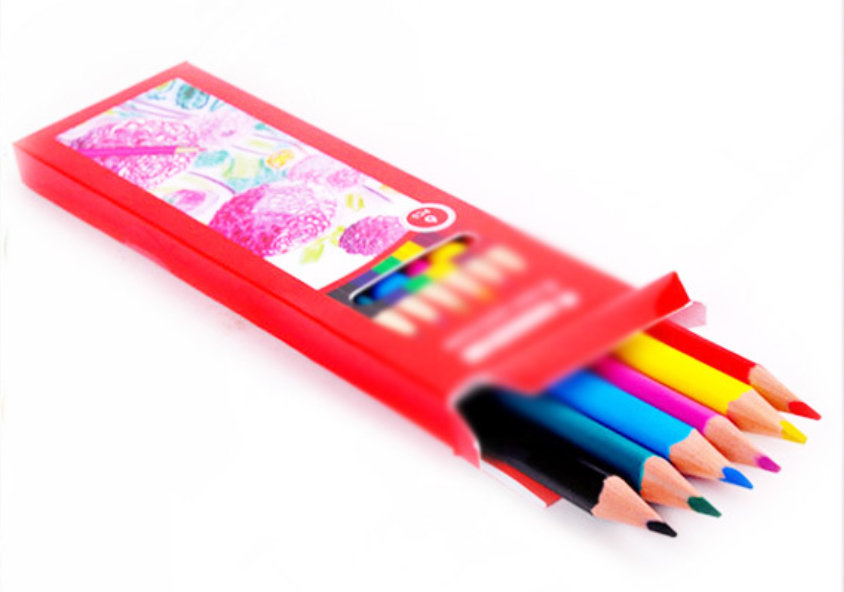 Office & School Use Good HotHot Selling Color Box Color Lead 7 Round Triangle Hexagonal wood Color Pencil