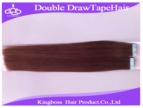 Quality double drawn tape hair extension/double drawn tape hair extensions/human hair extensions online