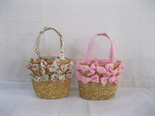 High quality kid wheat straw basket,kids collapsible picnic basket
