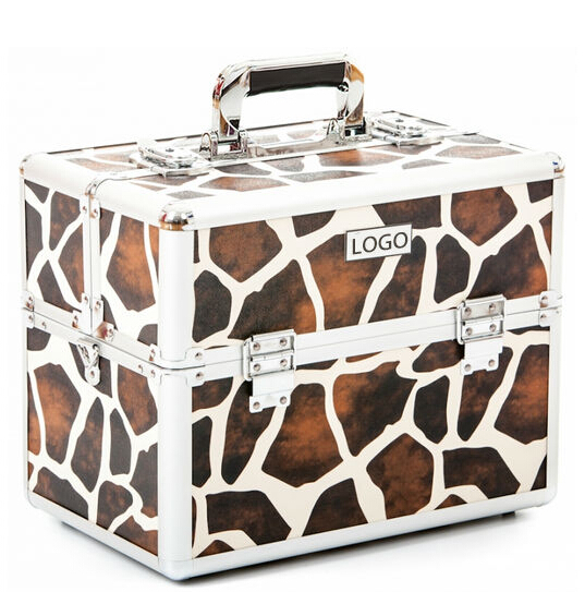Hair beauty box vanity case carrying cases Giraffe beauty case