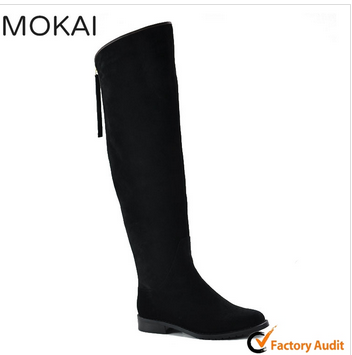MK001-14 knee high ladies genuine leather boots women