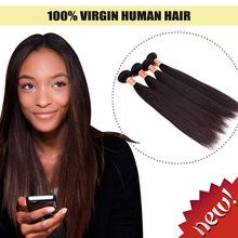 Top quality virgin brazilian silky straight remy human hair weft