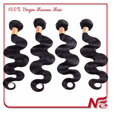 Hot selling wholesale price brazilian body wave human hair 16 inch hair weft