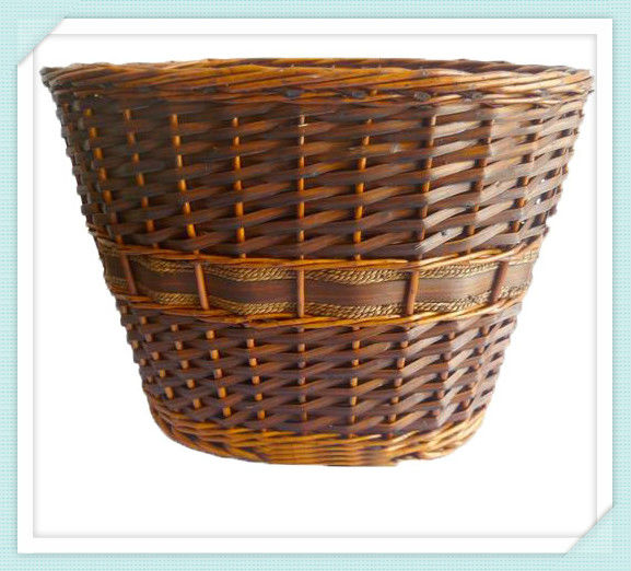 2014 round wicker firewood basket