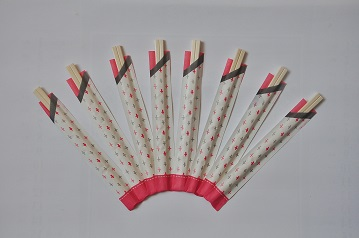 disposable wooden chopsticks with inner paper  bag