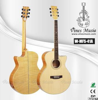 W-MFS-41A 41 inch high quality flame acoustic guitar foreign musical instrument