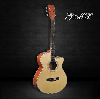Handmade grand high end all Solid wood electric acoustic guitar