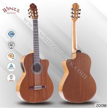 Wholesale 39 Sapeli Plywood Rosewood Fingerboard Cutaway Classic Guitar (AC309CE)