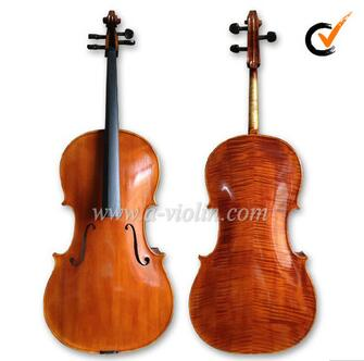 Spruce Top Flamed Chinese Maple Back Cello With Case and Bow (CH200W)