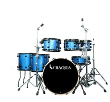 7pcs Royal Blue Light High Quality Jazz Drum Set