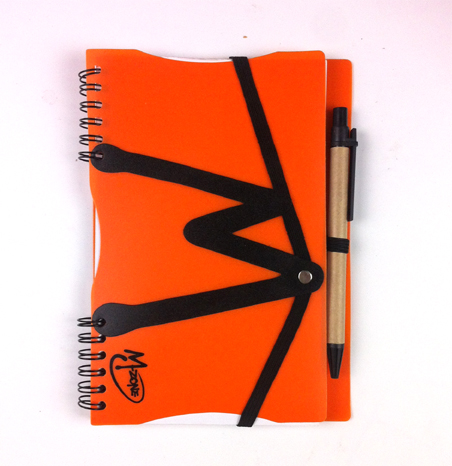 notebook with string