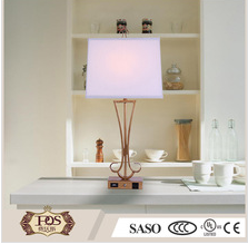 Modern iron art Decorative Table Lamp with brass finish for living room