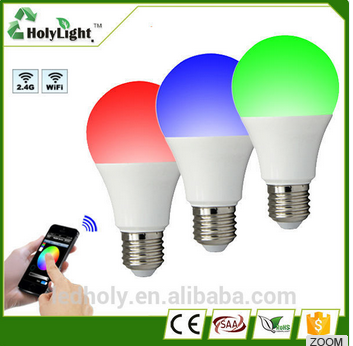 chinese new product 2.4G rgbw led bulb 6w 9w led wifi bulb led bulbs for home