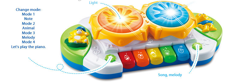 Musical instrument toys piano and drum plastic toy musical and light children electronic toy piano