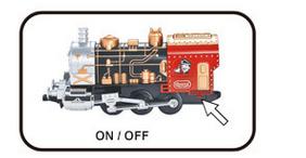 Mini train with track light up BO musical train set electric train
