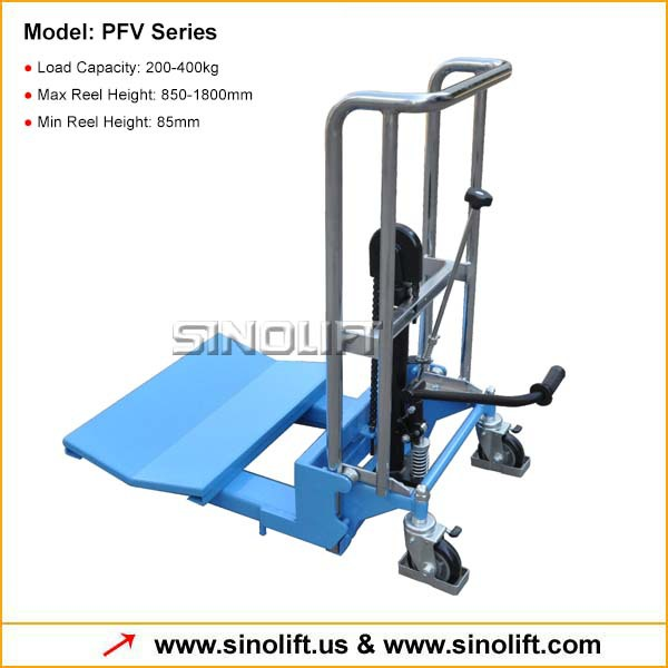 PFV Manual Mini Stacker with V-shape Platform for Reel