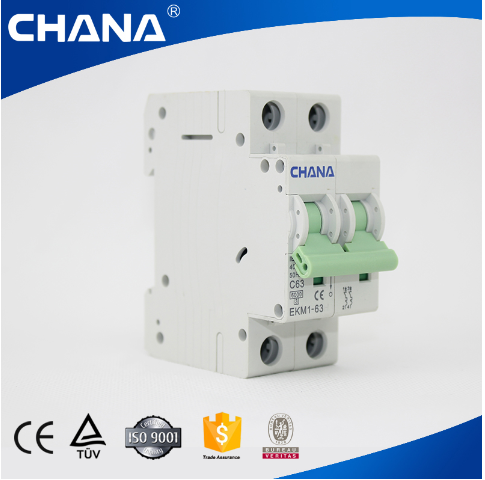 a/10ka Mini Circuit Breaker with TUV Approval (EKM1-63)