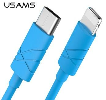 USAMS 1000mm U-GG Series Type-C TO For Iphone/MacBook Data Charging Cable HD-590