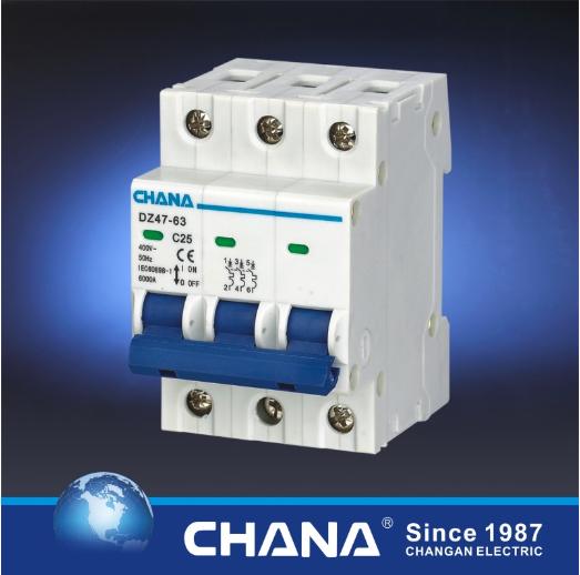 Ce CB Semko Certificated C45 Dz47-63 Mini Circuit Breaker MCB (C65 L7 NC)