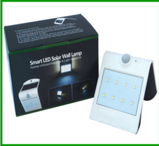 LED Solar Wall Lamp Smart Solar & Sensor LED Wall Light