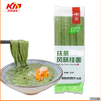Health low fat green tea instant noodle